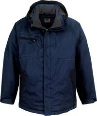 Men's Two-Tone Insulated Jacket with Hood (88643)