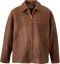Men's Cow Hide Leather Jacket (L00470)