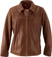 Ladies' Cow Hide Leather Jacket (L00471)