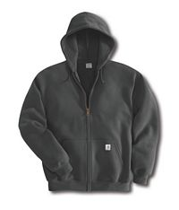 Mens Mid Weight Hooded Zip-Front Sweatshirt (K122)