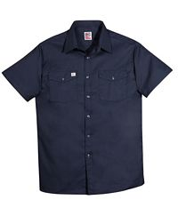 Men's Short Sleeve Button Front Shirt (137)