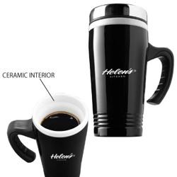 Ceramic and stainless travel mug d974 - Travel mug stainless steel interior ...