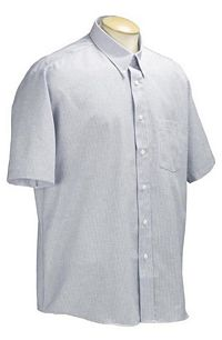 Men's Striped Classic Oxford Short Sleeve Shirt (C112)