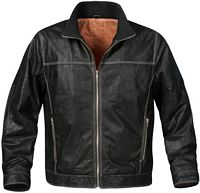 Men's Classic Distressed Bomber Jacket (LRJ-1)