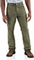 Men's Washed-Twill Dungaree/Flannel Lined Dark Khaki (100070)