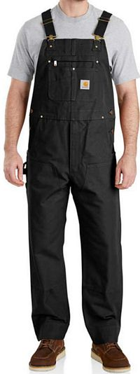 Men's Carhartt Duck Bib Overall Unlined (102776)