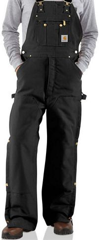 Bib Overall / Quilt Lined Carhartt Duck Zip-to-Thigh (R41)