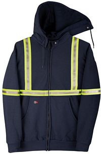 Big Bill® FR Hooded Zip-Front Sweatshirt with CSA Compliant Striping (VT17S11)