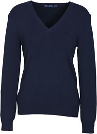 Ladies V-Neck Pullover Navy (LP3506)