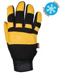 Goatskin Leather Winter Mechanics Glove (781123)