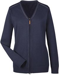 Ladies' Manchester Fully-Fashioned Full Zip Sweater (DG478W)